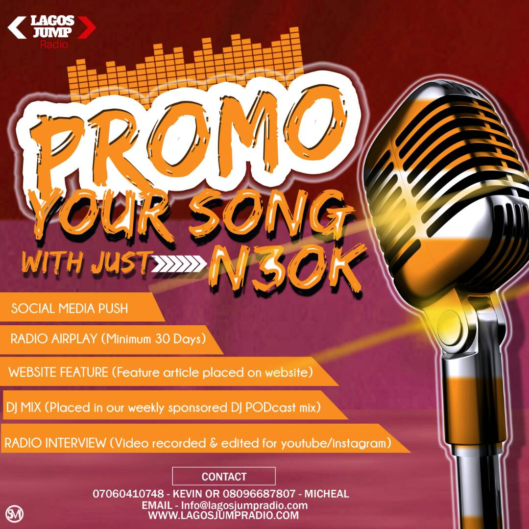 Promote You Song and Music | Lagos Jump Radio